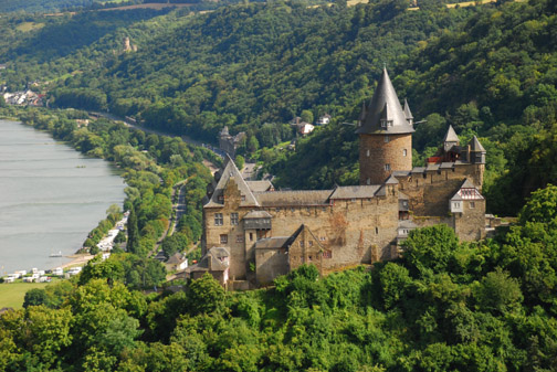 Burg Stahleck above Bacharach, Rhein Valley