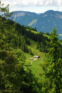 Spectacular view from a cable car in Austria