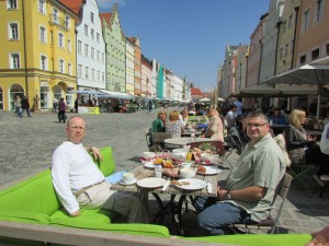 Clients enjoy a relaxed brunch before their afternoon flight out of Munich at the end of their tour. We take time to enjoy local culture and the way of life in Europe, which is much slower than the hectic pace of North America.