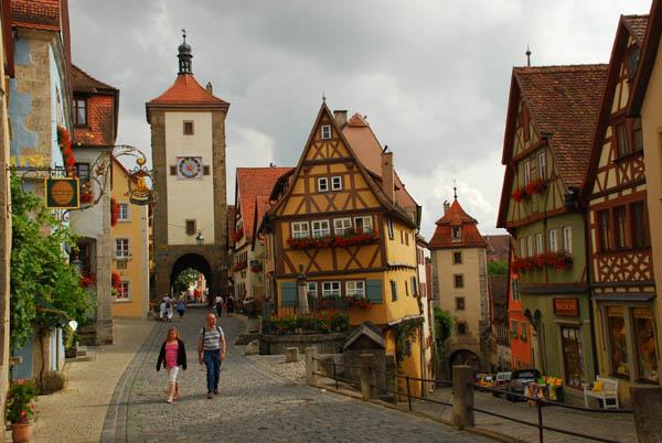 Marktplatz in Miltenberg am Main Bavaria Germany