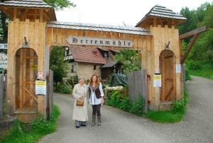 The author at left with Jenean Derheim, European Focus, at the Herrenmuehle