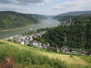 Those trapped on bus tours can only dream of a vista over the Rhein like this - reachable only by a hidden, single-track road