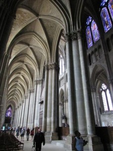 Images of the interior of the soaring Notre Dame of Reims