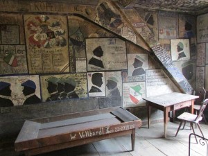 Walls in the 'jail' of Heidelberg University are covered with drawings done by those incarcerated here. Students could still attend classes unless they were simply too tired from discussing politics and such with their fellow inmates the night before. Sometimes beer was brought in for the convicts.