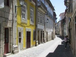 Narrow lane in the medieval town
