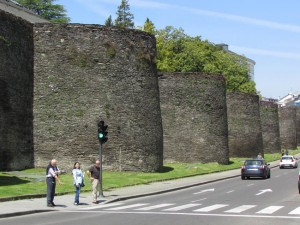 The 7,000 feet of intact Roman walls include 71 towers