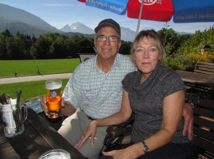 Enjoying a beer garden above Berchtesgaden
