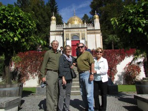 Our group in front of the tea house on the grounds of Linderhof Castle
