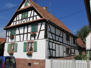 A typical house dating back about 200 years in the village center