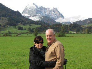 Denise and Jim enjoying the beautiful weather and scenery near St. Johann in Tyrol