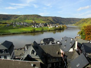 The view from the Klostercafe in Beilstein