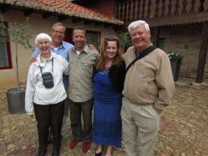 Carol, left and Art, right will join us again this year for a trip, this time, to southern Portugal and southern Spain.
