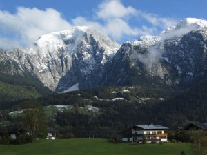 The Hoher Goll mountain in the afternoon at Berchtesgaden