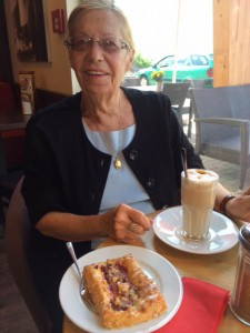 Dolores Petit has waited at least 50 years for this trip and today it started. We will be visiting cousins in the Steinfeld (Zeven) area as well as some tourist highlights on her Bucket List.