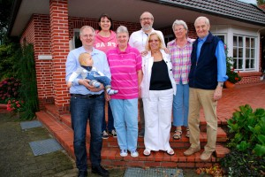 Dolores (in white) with family in Steinfeld, Germany.
